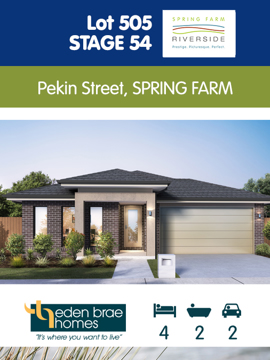 Lot 505 - Eden Brae House and Land Package